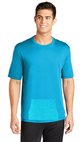 tee with pocket - bright blue