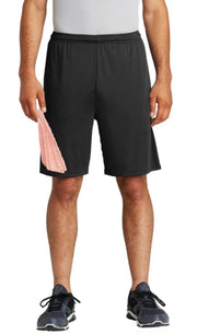 men's pocketed shorts - black