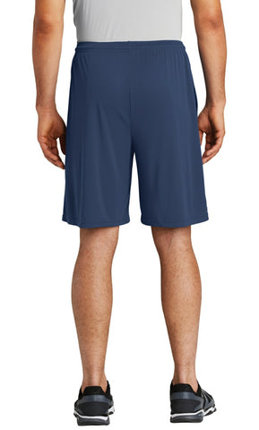 men's pocketed shorts - blue