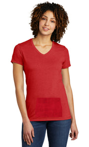 eco tee with pocket - red, v-neck