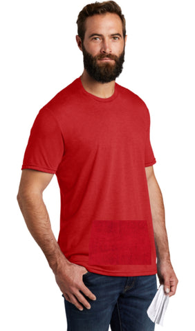 tee with pocket - red, round neck