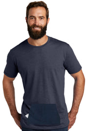 tee with pocket - navy, round-neck