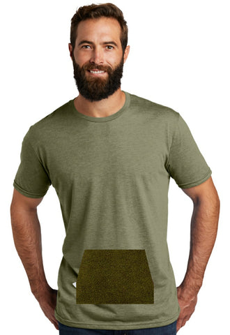 tee with pocket - olive, round neck