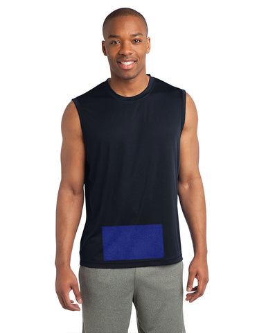 Men's Sleeveless Attached Panel in Navy Blue