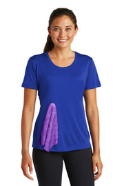 Women's Tee with Snap-On Mini-Towel in Royal Blue