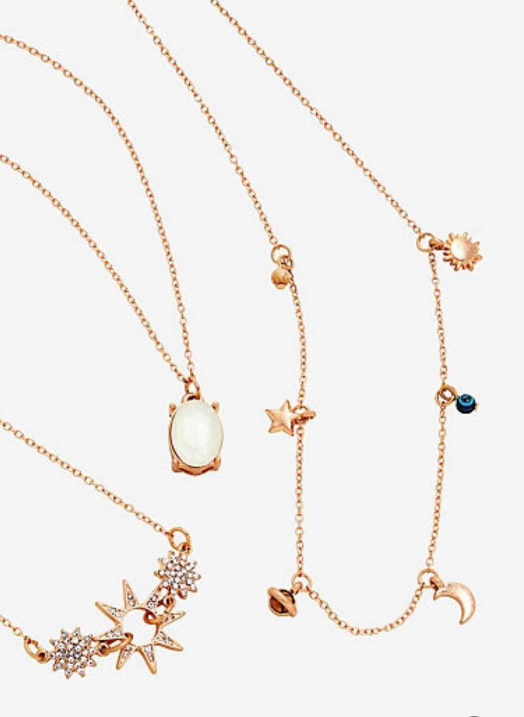 Set De Collares Galaxy Love Galaxia Brilla