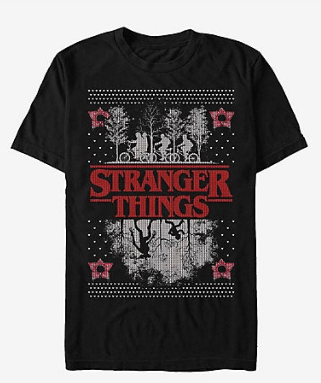 Stranger Things Camisa Estilo Ugly Sweater