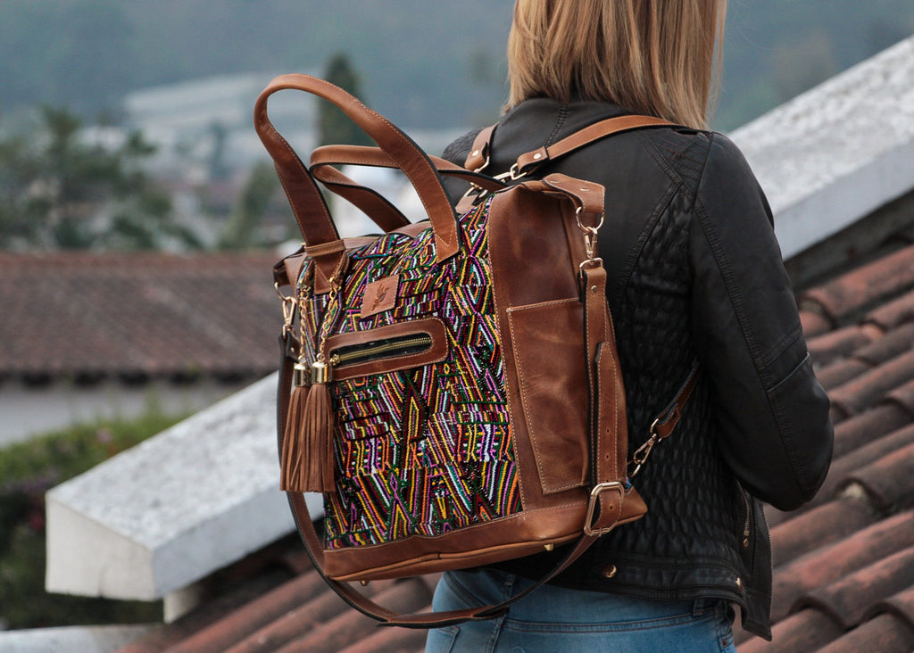 convertible bag Mayalla Amelia light brown leather
