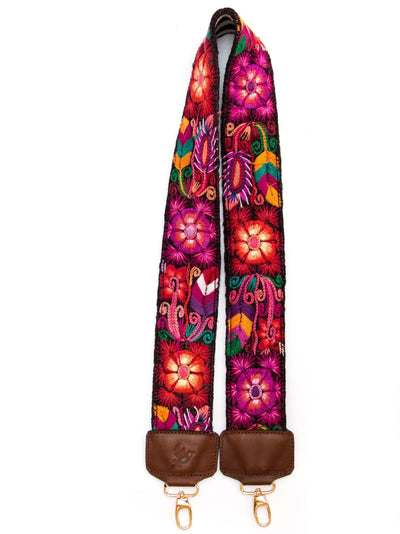 Leather Embroidered Camera Strap JOSIE - Mayalla