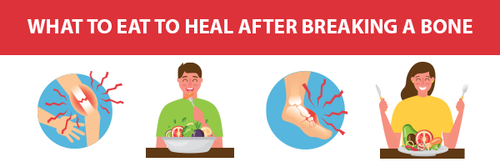 What to eat to heal after breaking a bone