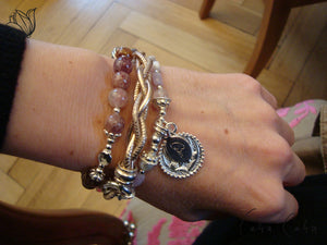 One-Hit-Wonder Leder-Armband «Sweet Rose»
