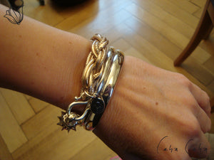 One-Hit-Wonder Leder-Armband «Big Sweet Rose»