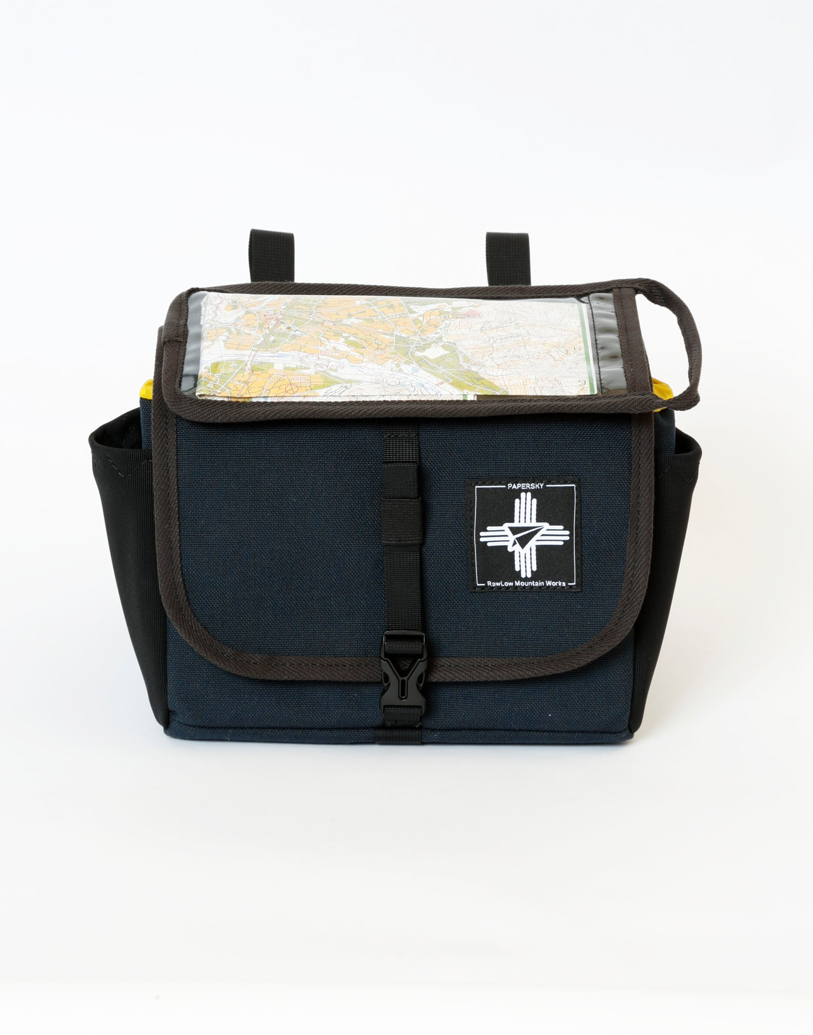 papersky and rawlow mountain products front bike bag
