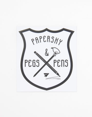 ペグ & ペン ステッカー | Pegs & Pens Waterproof Sticker - PAPERSKY STORE  - 1