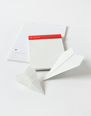 airplane note pad