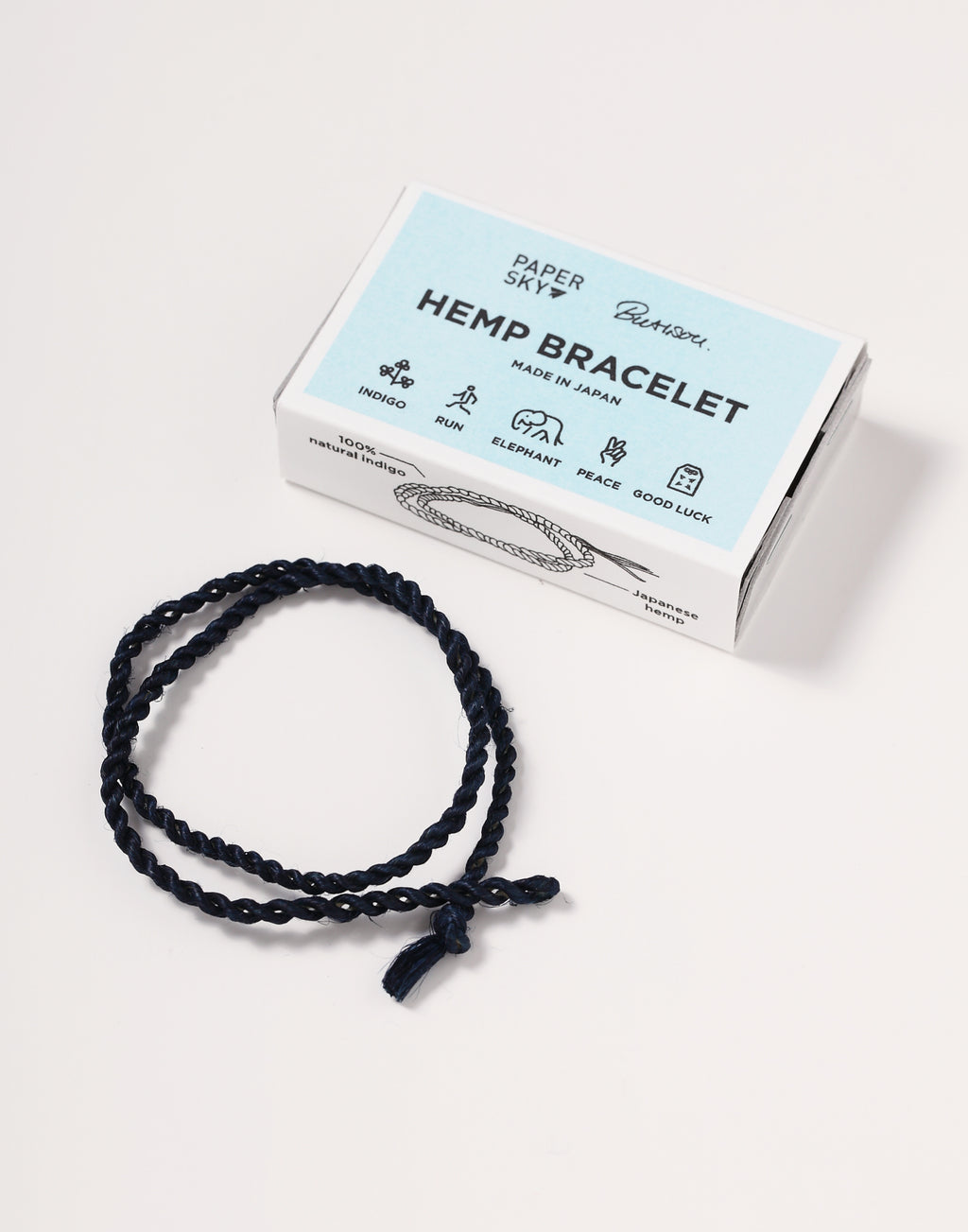 hemp bracelet dyed in indigo
