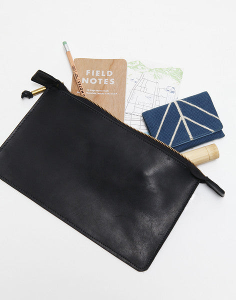 クラッチバッグ | Leather Clutch in Black - PAPERSKY STORE  - 1