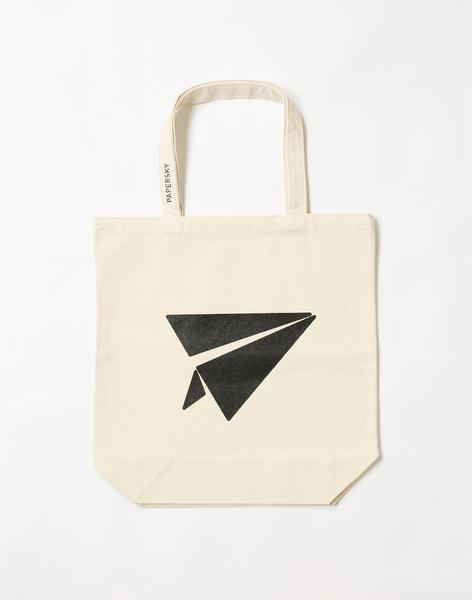 canvas airplane tote bag