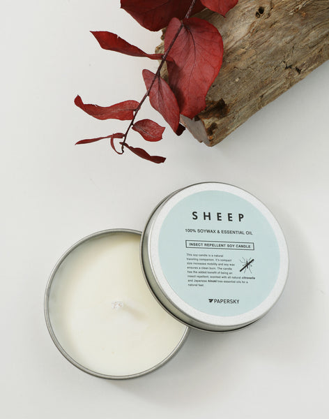 虫除けキャンドル |  Insect Repellent Soy Candle - PAPERSKY STORE  - 1