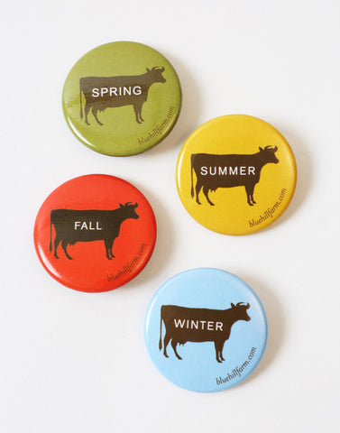 BLUE HILLバッジ | Cow Badge – Season Set - PAPERSKY STORE