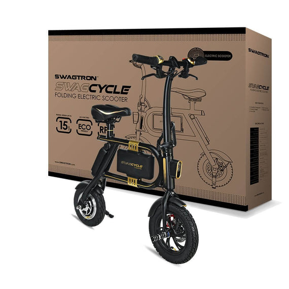 SWAGTRON SwagCycle Envy E-Bike – Folding Electric Bicycle