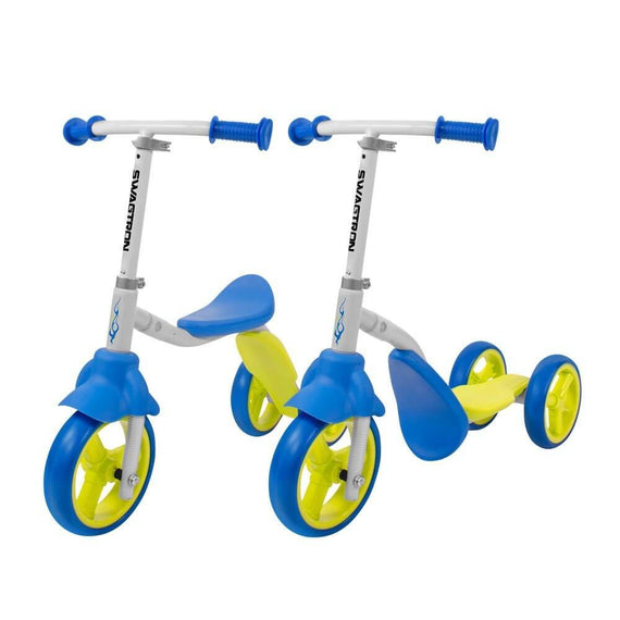 K2 Toddler 3 Wheel Scooter & Ride-On Balance Child Trike 2-in-1 Adjustable for 2-5 Year Old Boy Or Girl