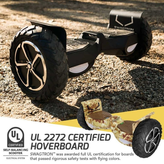 "SWAGTRON T6 OFF-ROAD 10"" Hoverboard with Auto Balancing and Bluetooth (Camouflage)"