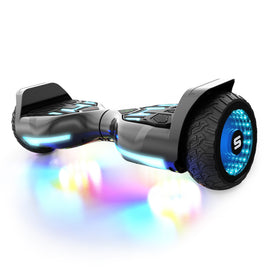 Swagtron T580 Warrior Self Balancing Bluetooth Hoverboard with Music Synced Ground FX