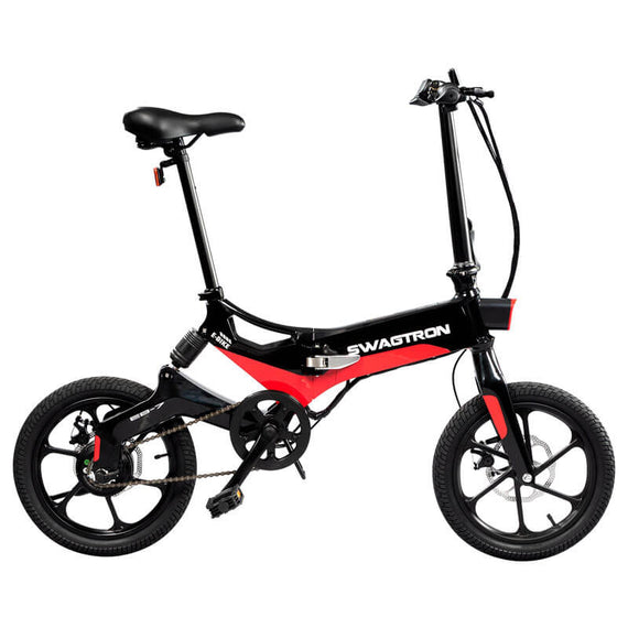 SWAGTRON SWAGCYCLE EB7 Elite Electric Bike, Folding Commuter EBike