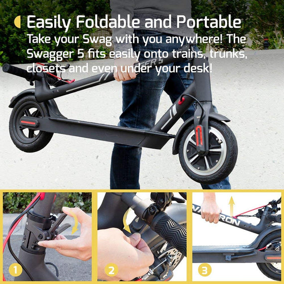 SWAGTRON SWAGGER 5 Elite City Commuter Electric Scooter