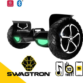 "SWAGTRON T6 OFF-ROAD 10"" Hoverboard with Auto Balancing and Bluetooth"