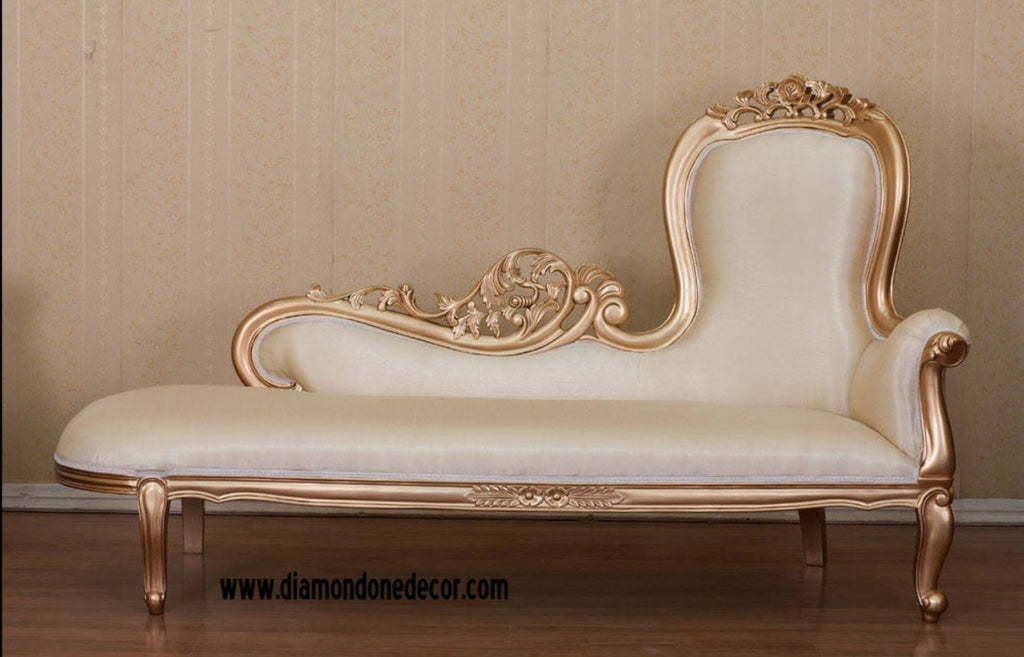 Baroque french reproduction louis xvi style fainting couch - Chaise baroque argentee ...