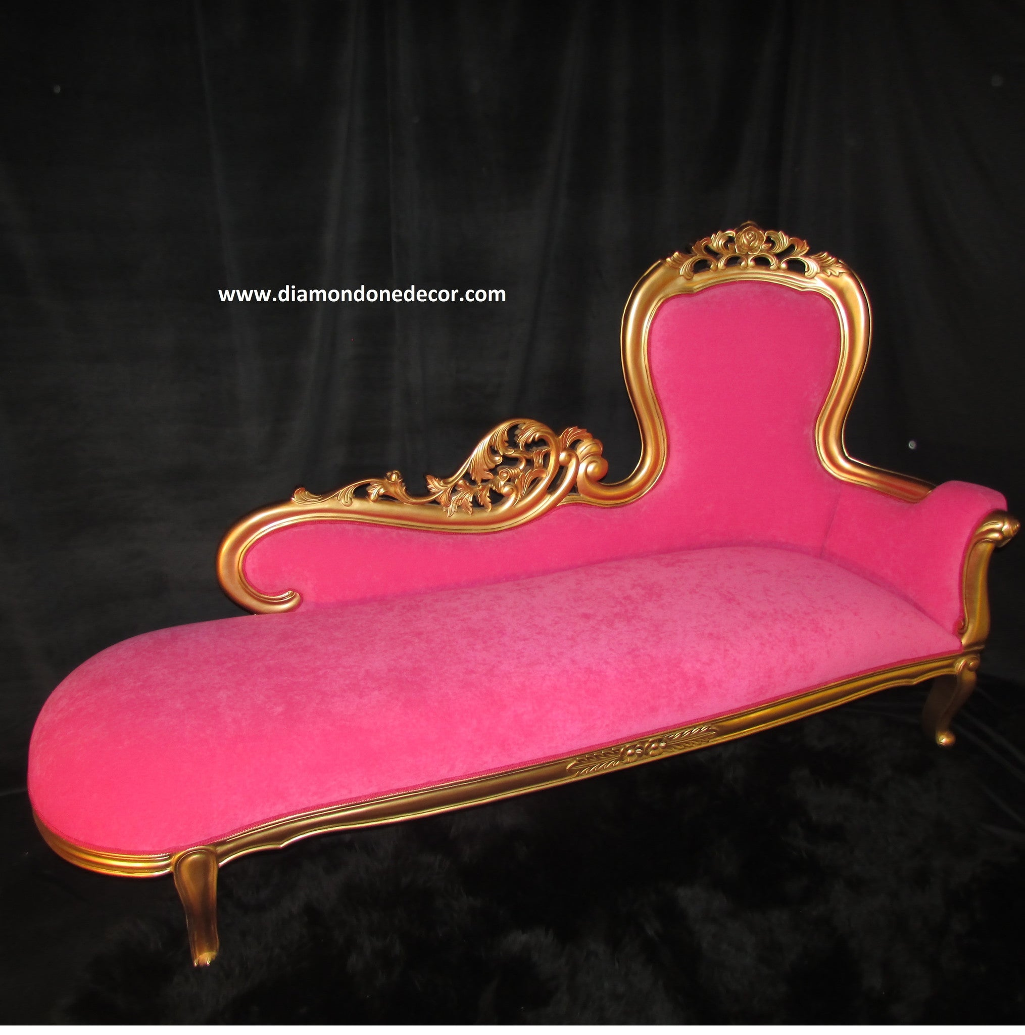 Hot Pink Baroque French Reproduction Louis XVI Style Rococo