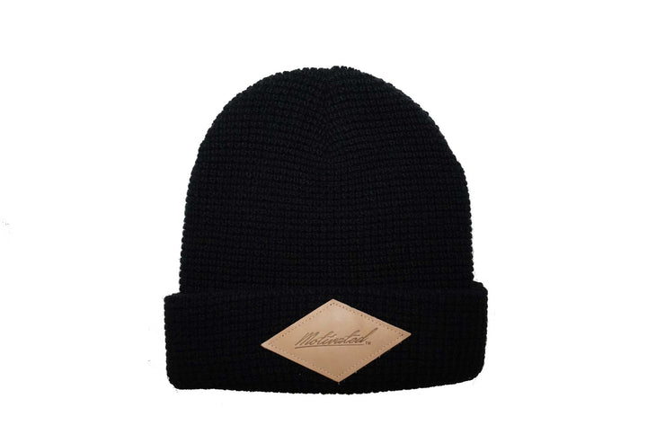 Iconic Motivated Beanie- Black