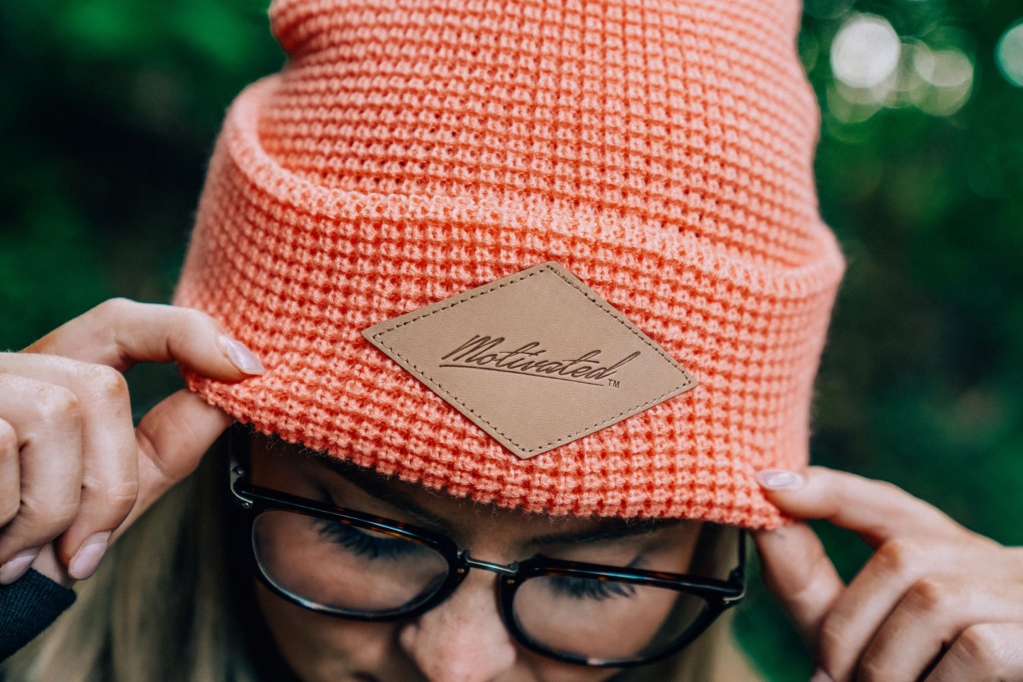 Iconic Motivated Beanie- Peach