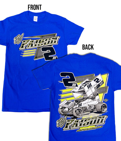 2021 CJ Faison Race Shirt- Blue