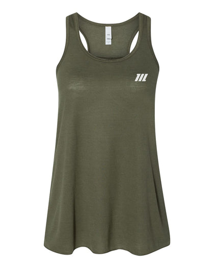 Hybrid Racer Back Tank Top- Army Green