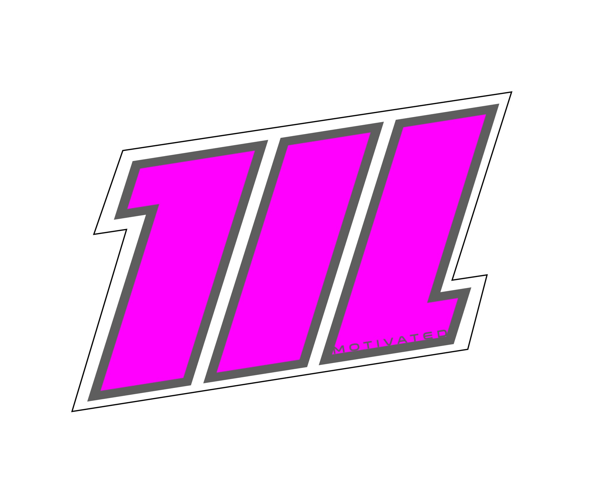 Motivated Icon Sticker- Pink