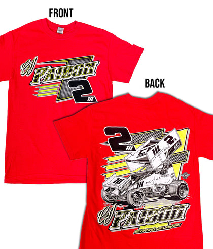 2021 CJ Faison Race Shirt- Red