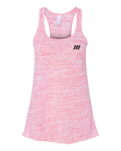 Hybrid Racer Back Tank Top- Marble Pink