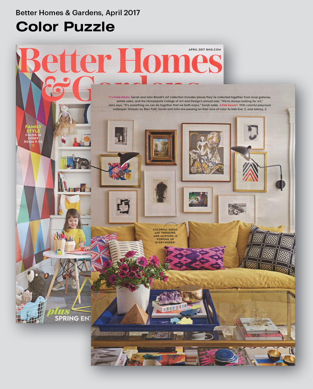 stylist design better homes and gardens desk. Our Color Puzzle was featured in the April 2017 issue of Better Homes  Gardens as a part their cover story for month The puzzle included Press Areaware