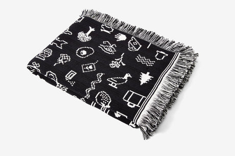 Cairo Throw - Black/White