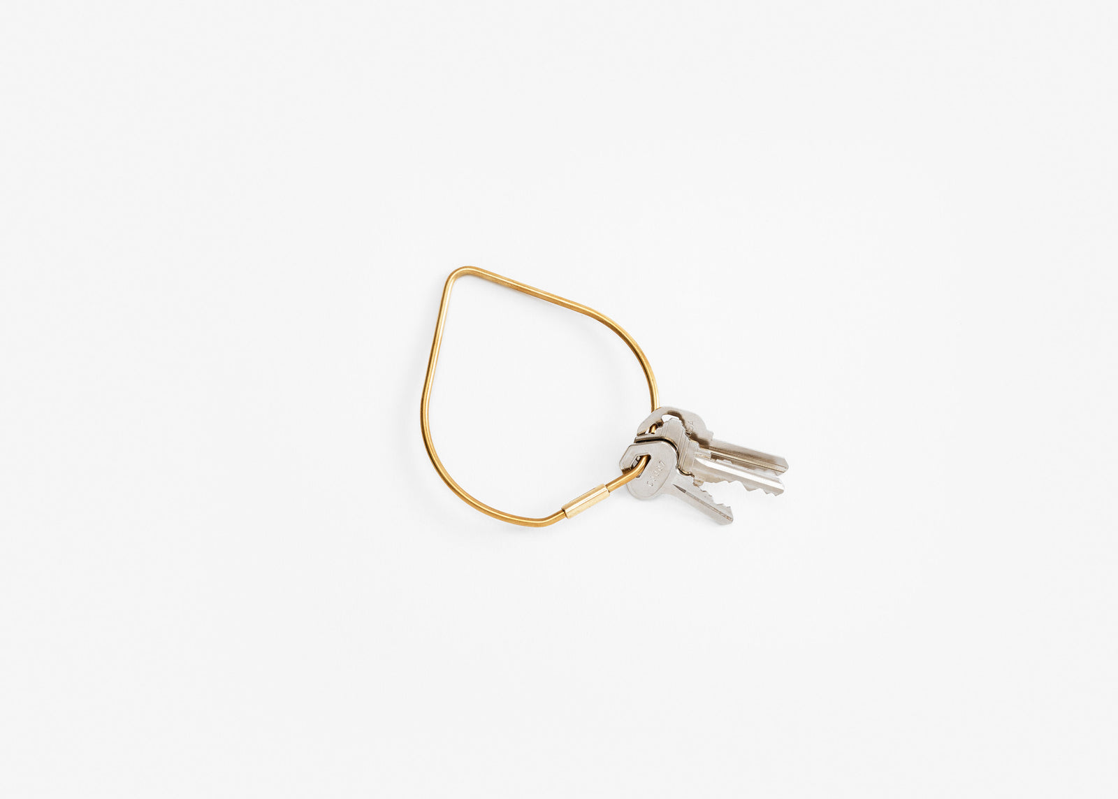 Contour Key Ring - Brass/Drop