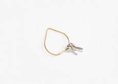 Contour Key Ring - Brass