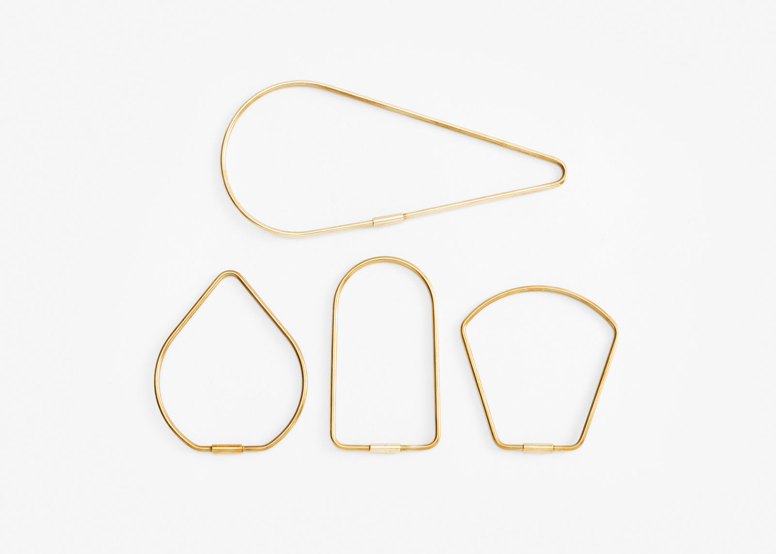 Contour Key Ring Bundle - Brass
