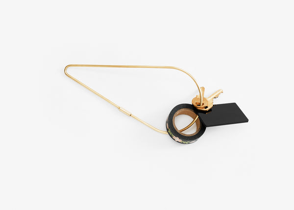 Contour Key Ring - Petal XL / Brass