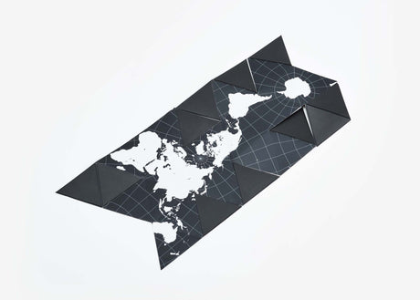 Dymaxion Folding Globe - Black/White