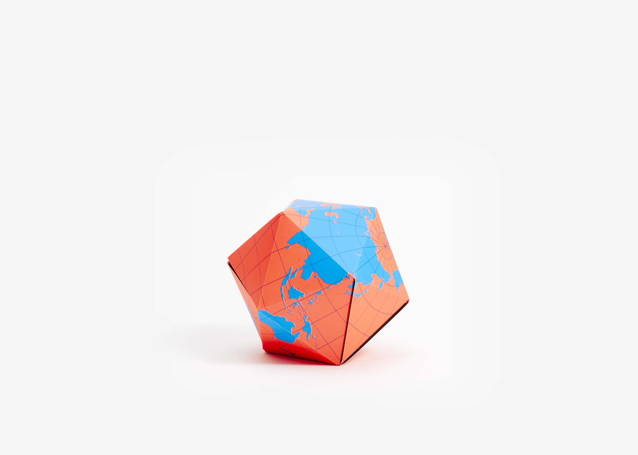 Dymaxion Folding Globe - Blue/Orange