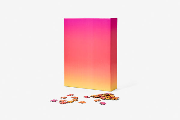 Gradient Puzzle Large - Pink/Orange/Yellow