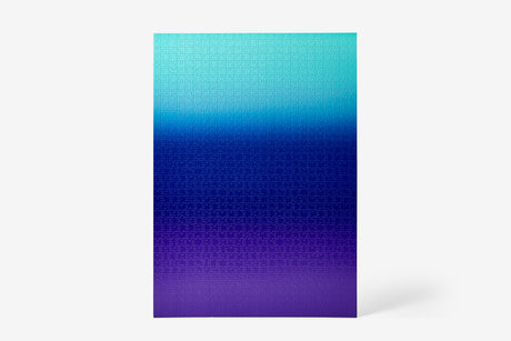 Gradient Puzzle | 1000 piece - Teal/Blue/Purple